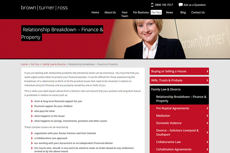 Brown Turner Ross Solicitors Liverpool